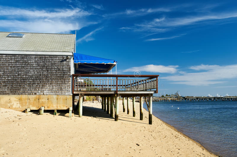 Strandhuis in Provincetown, Cape Cod, Massachusetts stock afbeelding