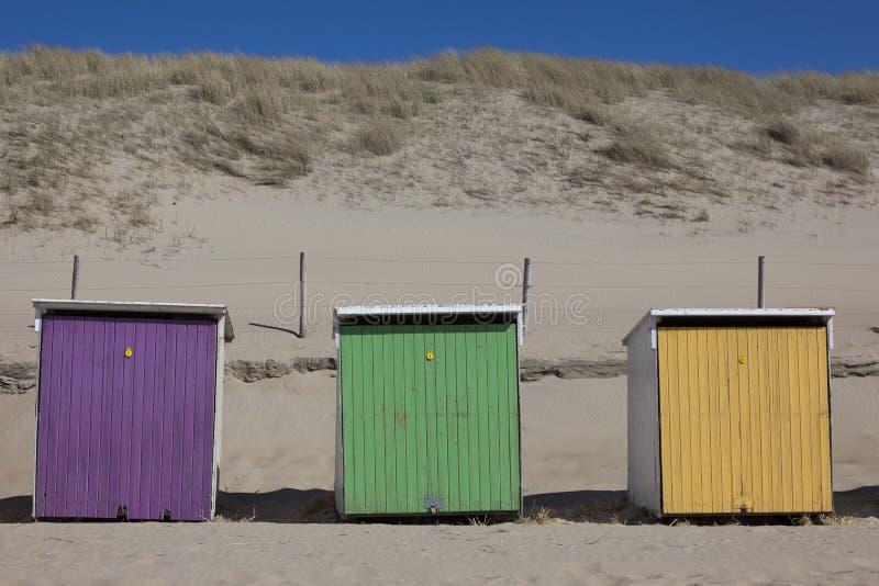 Strandhuizen stock afbeelding
