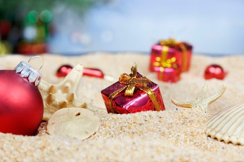 strandjulprydnadar royaltyfri bild