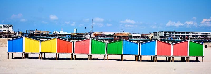 Strandkasten stock afbeeldingen
