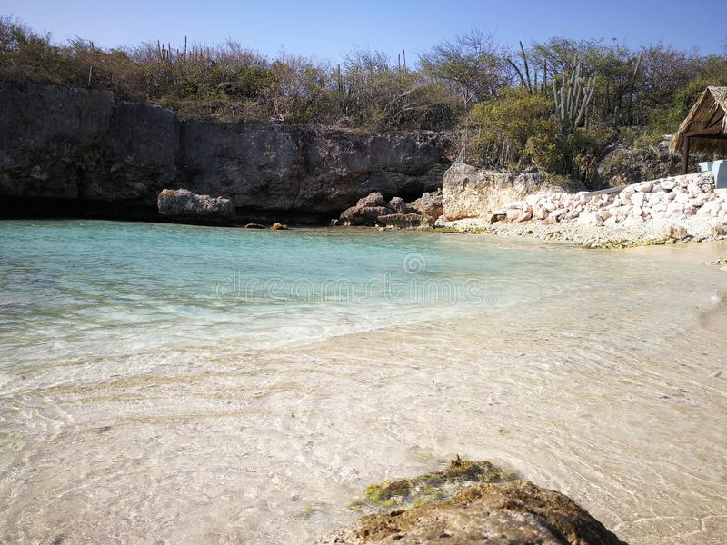 Strandkleuren en zand stock afbeelding