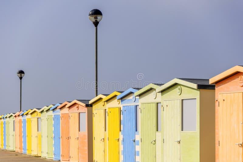 Strandkojor royaltyfria bilder