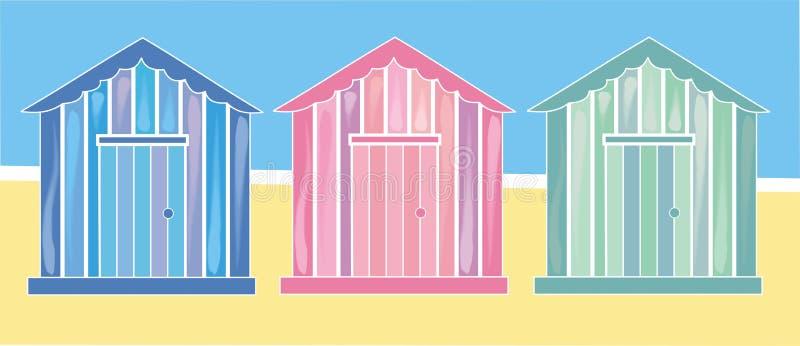strandkojor vektor illustrationer