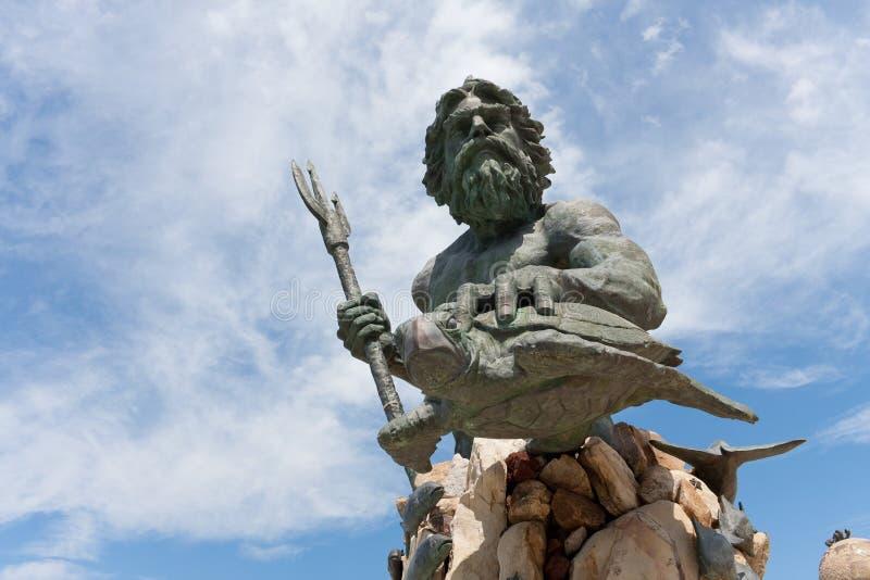 strandkonungneptune staty virginia royaltyfri fotografi