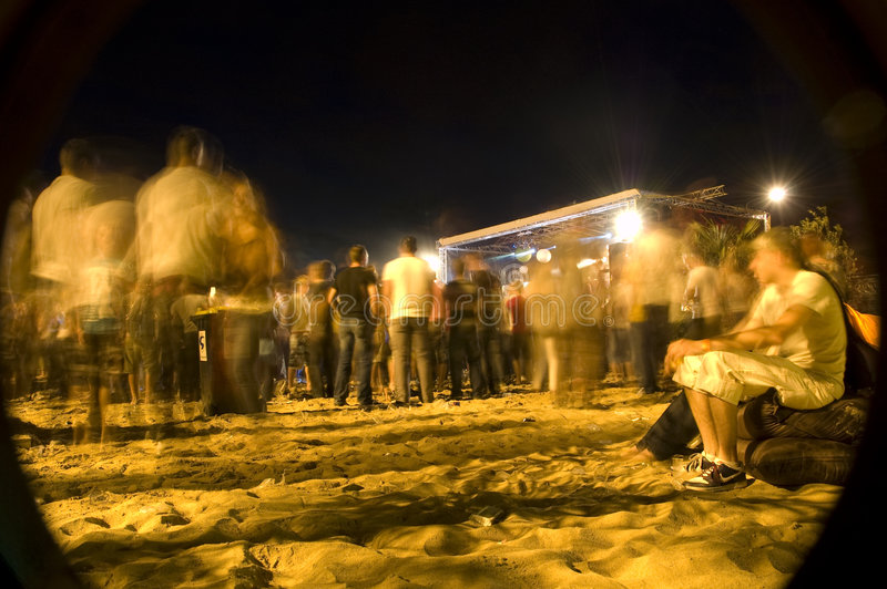 Strandkonzert kommt zu einem Ende stockbilder