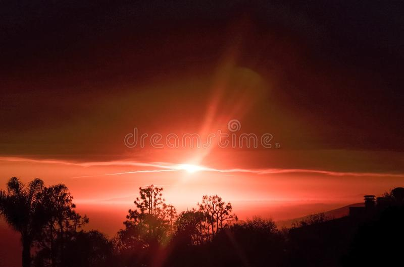strandlaguna solnedgång arkivfoto
