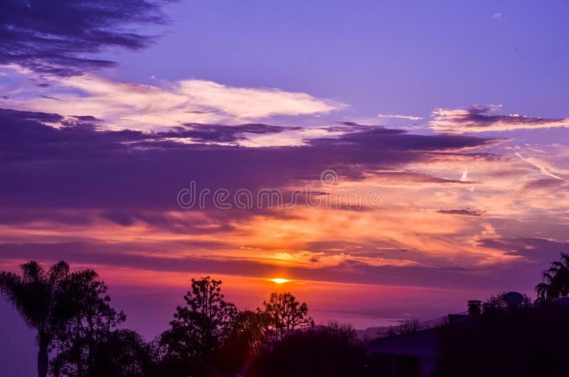 strandlaguna solnedgång royaltyfri fotografi