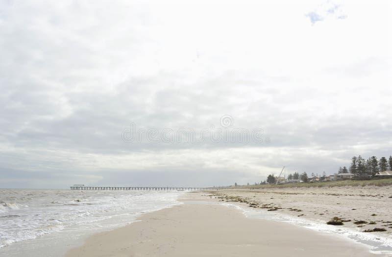 Strandlandschap in zachte kleuren royalty-vrije stock foto