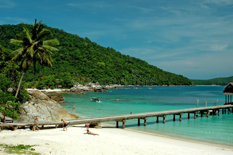 strandlandskap royaltyfri bild