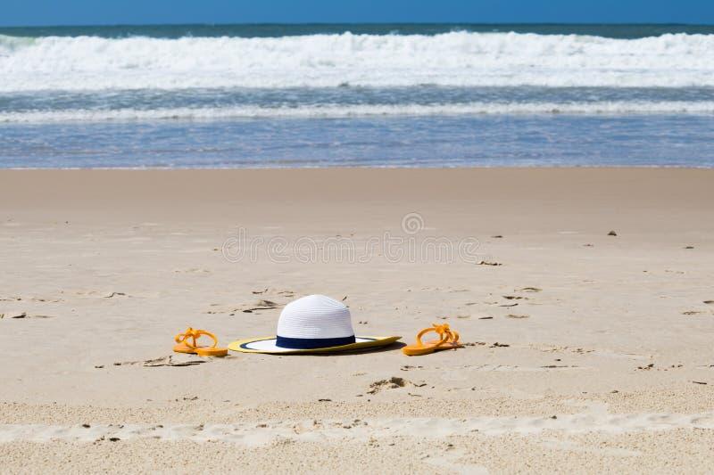 Strandlandskap i söder av Brasilien royaltyfria foton