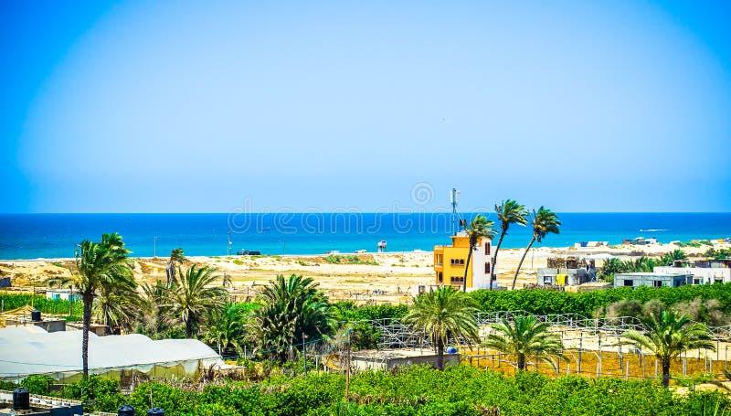 Strandlantgårdar! arkivfoto