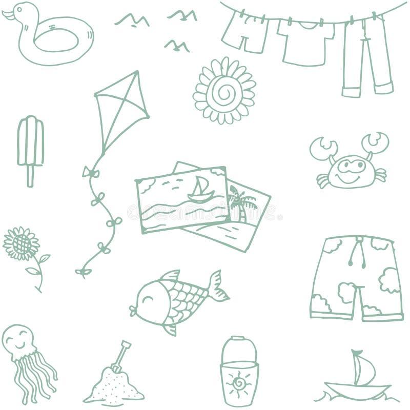 Strandleksakklotter för ungar royaltyfri illustrationer