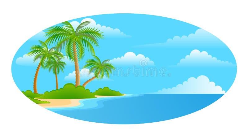 strandligganden gömma i handflatan sommartrees vektor illustrationer
