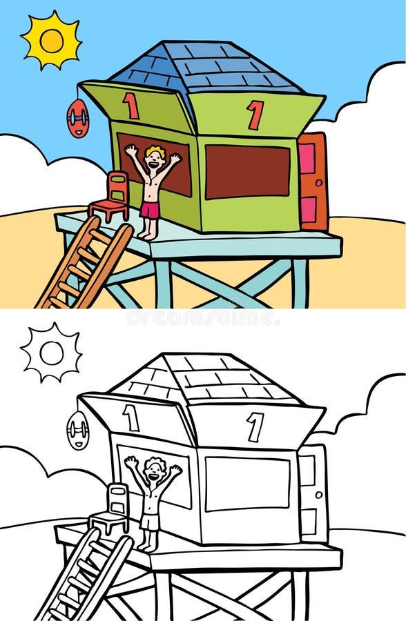 strandlivräddare stock illustrationer