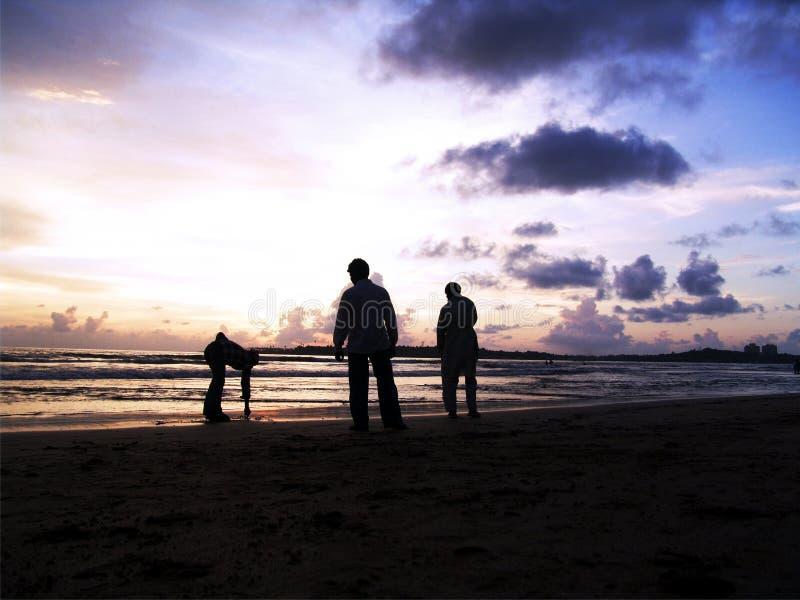 strandmän royaltyfria bilder
