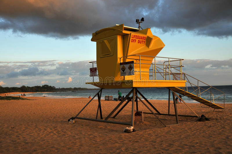 strandmakenamaui solnedgång arkivbilder