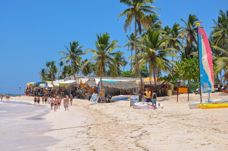 Strandmarkt in Punta Cana stock afbeeldingen