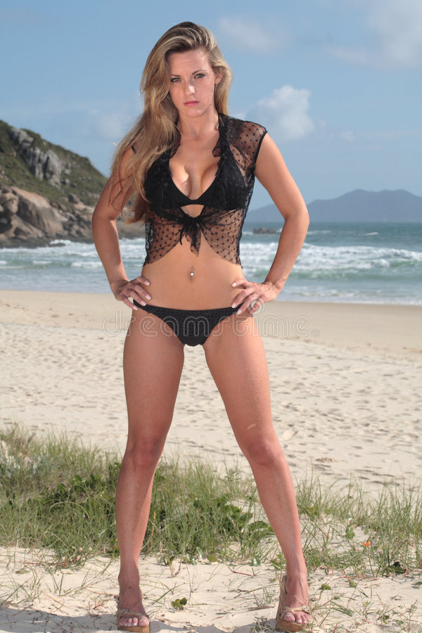 strandmodell royaltyfri fotografi