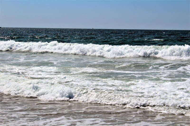Strandnah an Hermosa-Strand Kalifornien in der Los Angeles County, Kalifornien, Vereinigte Staaten lizenzfreie stockfotos