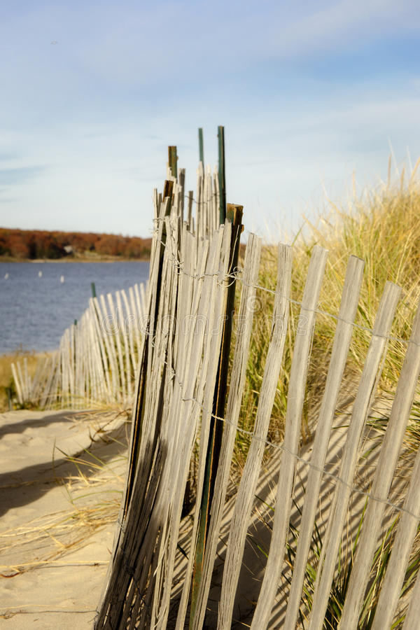 Strandomheining Rhode Island royalty-vrije stock foto's