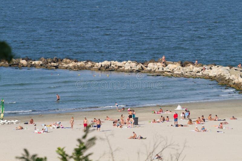 Strandoverzicht stock foto's