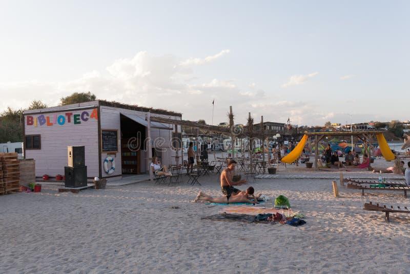Strandoverzicht stock afbeelding
