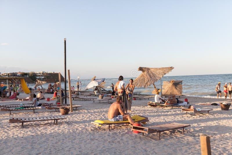 Strandoverzicht stock foto