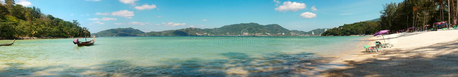 Strandpanorama stockbild