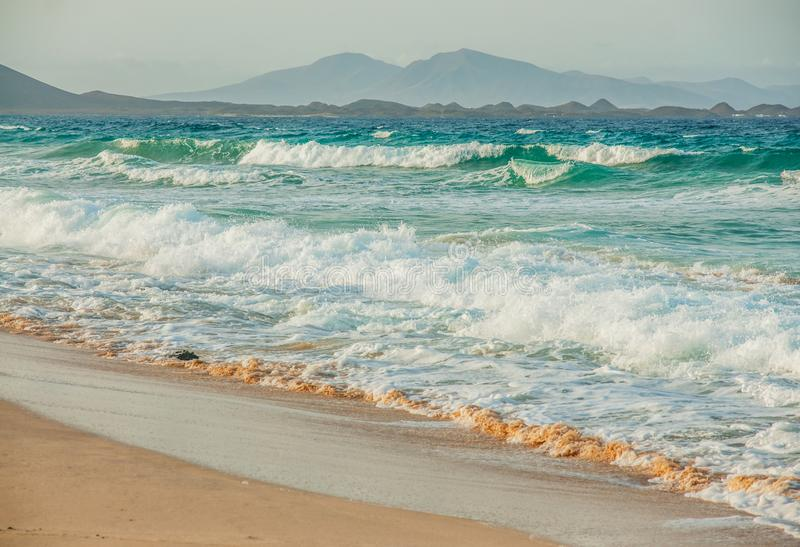 Strandparadiesmeerblick lizenzfreies stockbild