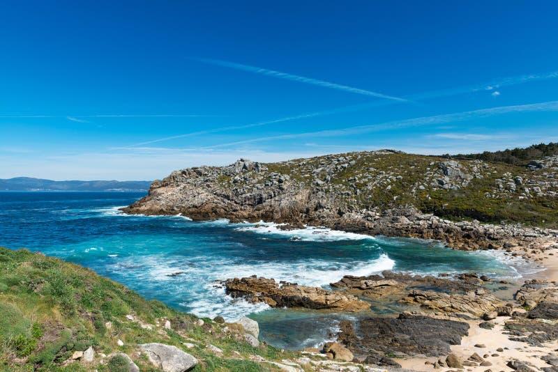 Strandparadijs in Galicië, Spanje royalty-vrije stock afbeeldingen
