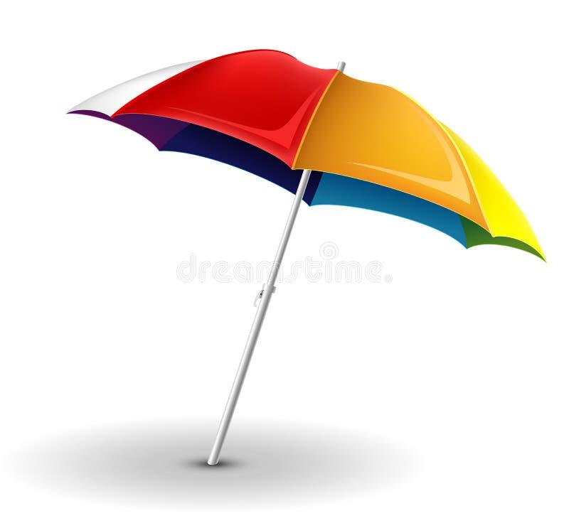 Strandparaplu vector illustratie