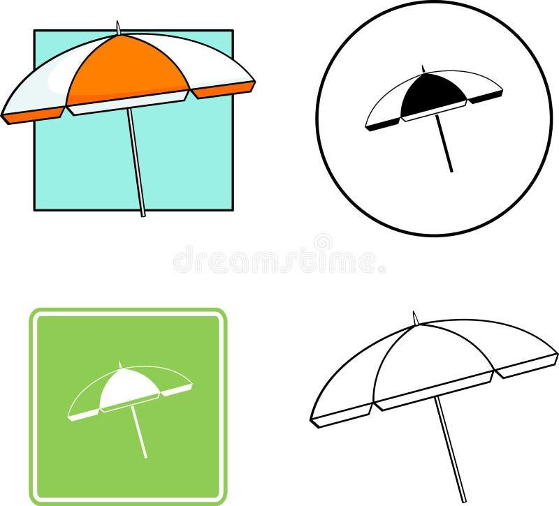 Strandparaplu gemengde reeks stock foto's