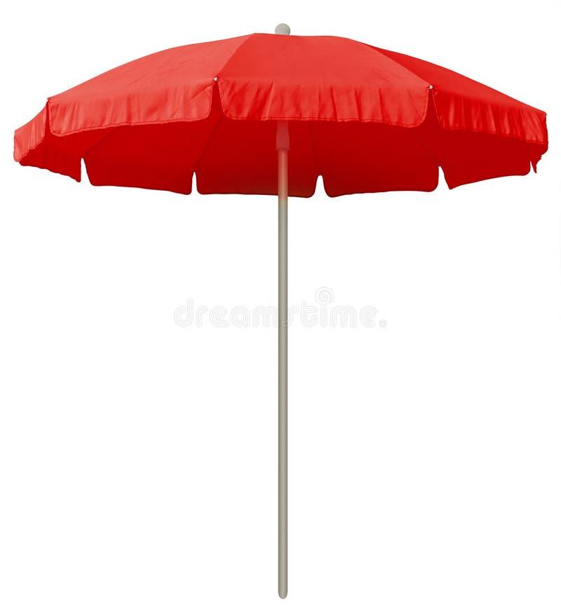 Strandparaplu - rood stock afbeeldingen