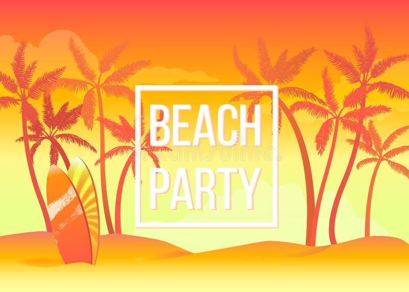 strandpartij stock illustratie