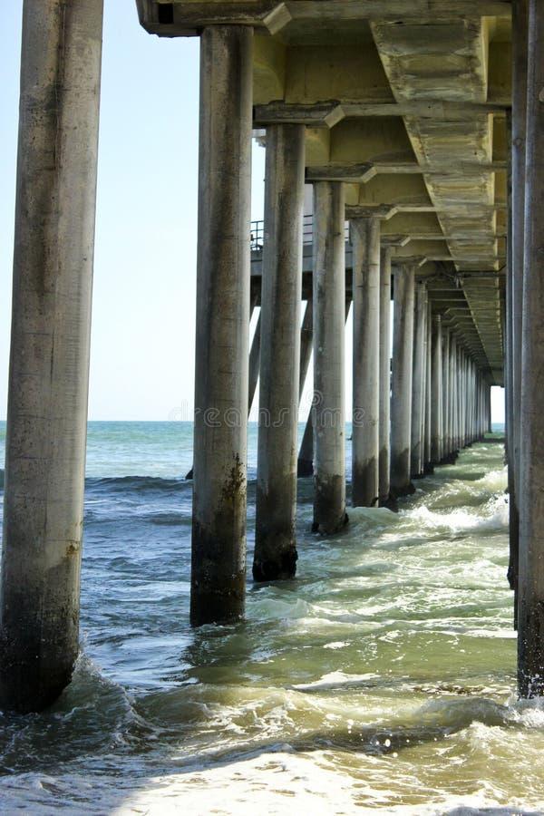 Strandpijler stock foto's