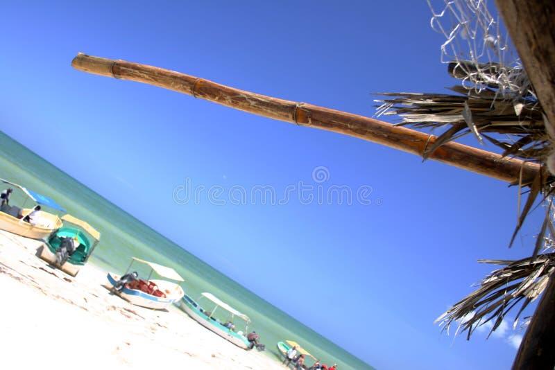 Download Strandplats arkivfoto. Bild av turism, ekologiskt, thatch - 248812