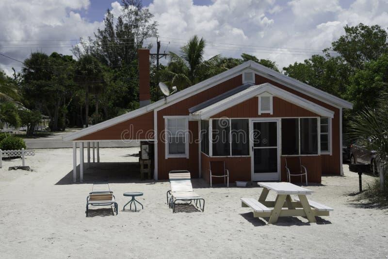Strandplattelandshuisje in Captiva royalty-vrije stock fotografie