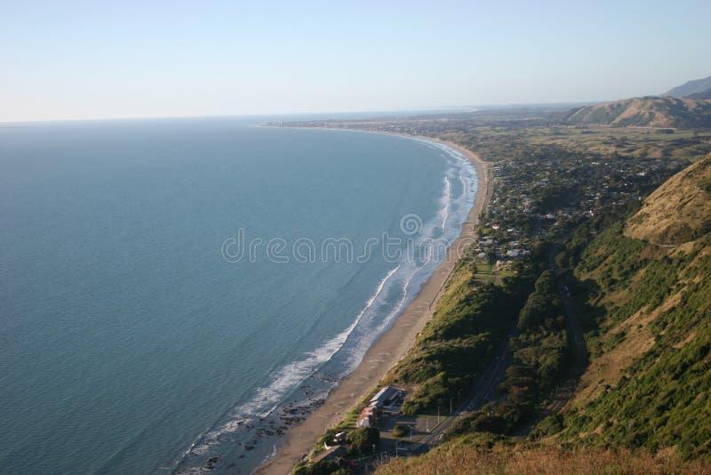 Download Strandporirua arkivfoto. Bild av town, land, kullar, ställe - 276064