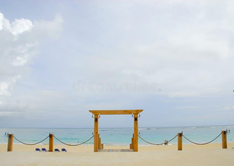 Strandport Till Arkivfoto