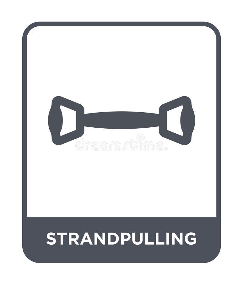 strandpulling ikona w modnym projekta stylu strandpulling ikona odizolowywająca na białym tle strandpulling wektorowa ikona prost ilustracji