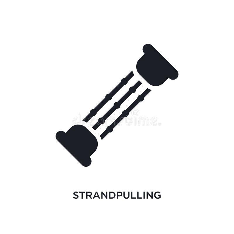 strandpulling lokalisierte Ikone einfache Elementillustration von den Turnhallen- und Eignungskonzeptikonen strandpulling editabl stock abbildung