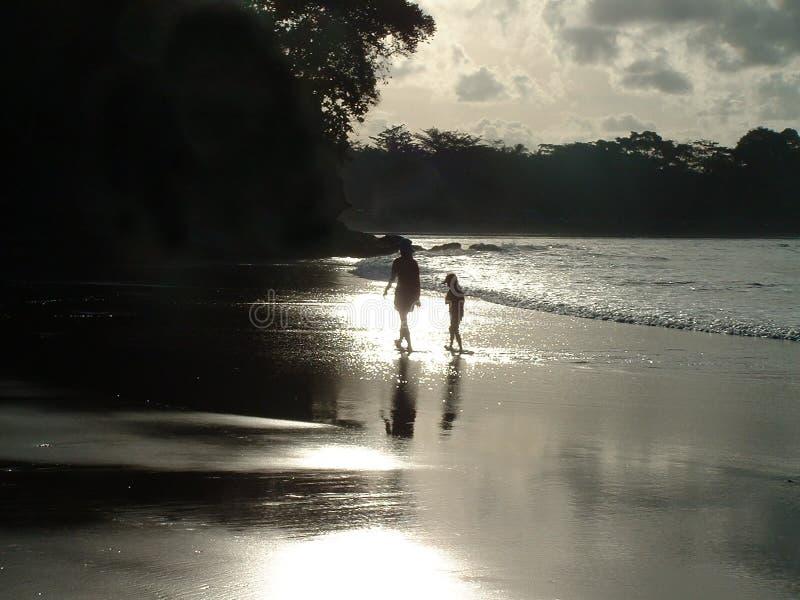 Download Strandquiet fotografering för bildbyråer. Bild av solnedgång - 25205