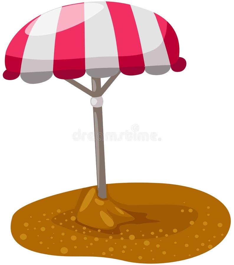 Strandregenschirm stock abbildung