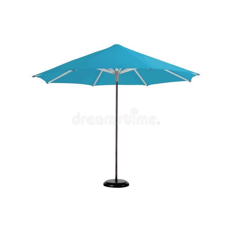 Strandregenschirm getrennt auf Weiß stockbilder