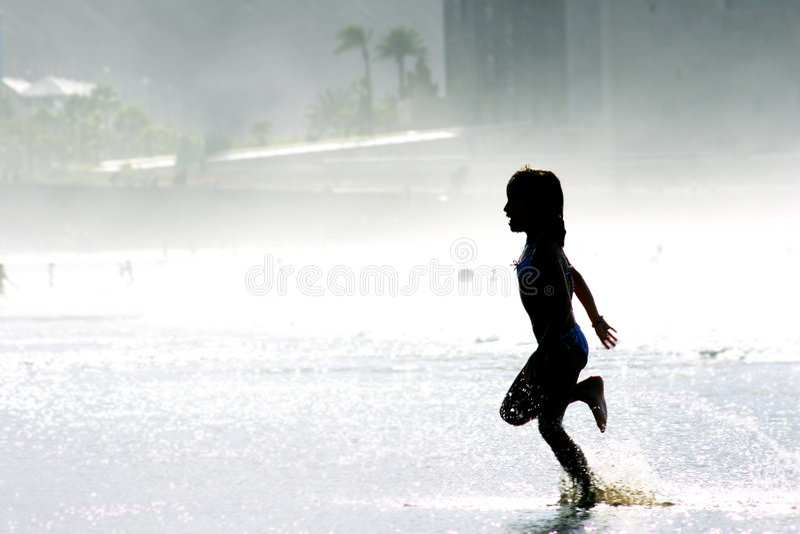 strandrunning royaltyfri foto