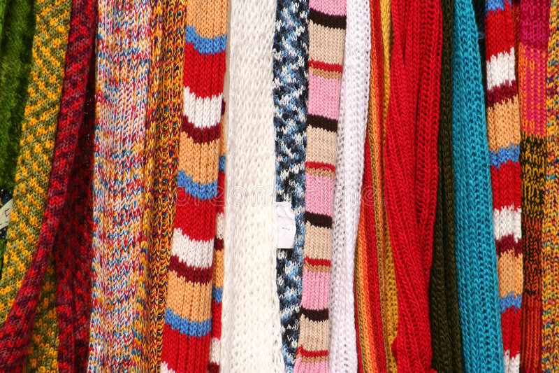 Strands of knitting work royalty free stock photo