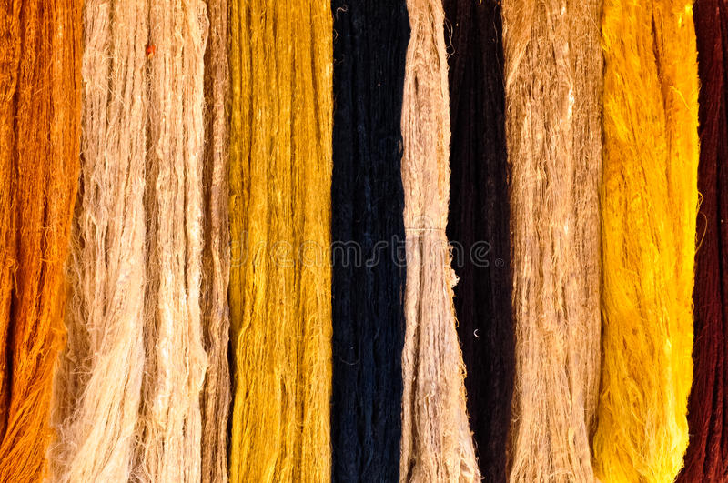 Strands of Natural Wool royalty free stock photography