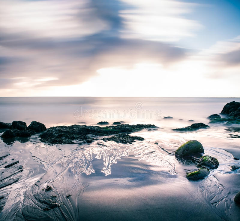 Strandsamenvatting royalty-vrije stock afbeeldingen