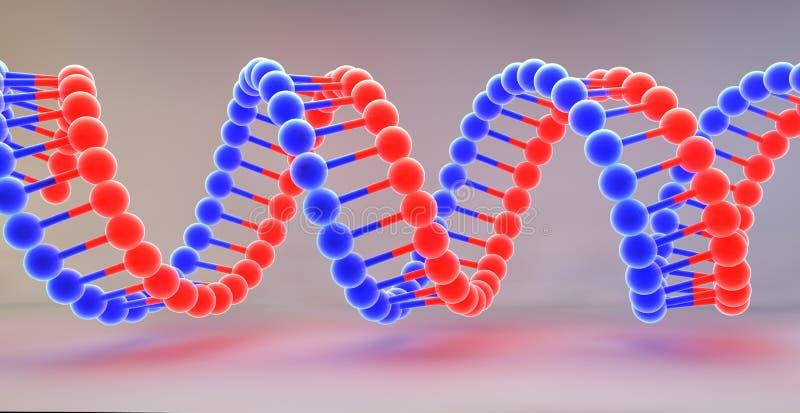 Strandsatta DNAmolekylar royaltyfri illustrationer