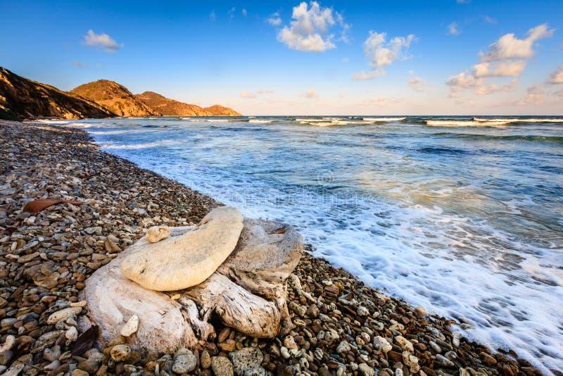 Strandscène in Britse Maagdelijke Eilanden royalty-vrije stock foto